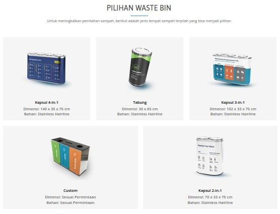 Produk Custom Waste Bin Waste4change